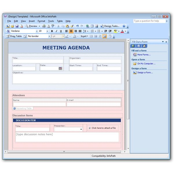microsoft infopath form templates what is microsoft infopath used for