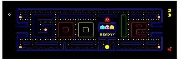 1. Interactive Pac Man Doodle