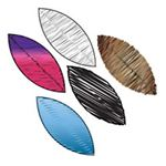 Leaf Graphics in Adobe Illustrator CS3 - apply textures to leaf graphics - scribble effects