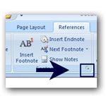 Changing Footnote Options