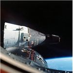 Gemini VII seen from Gemini VIA