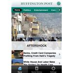Huffington Post iPhone App Screenshot (Image Credit: Huffington Post)