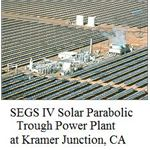 solar parabolic trough power plant