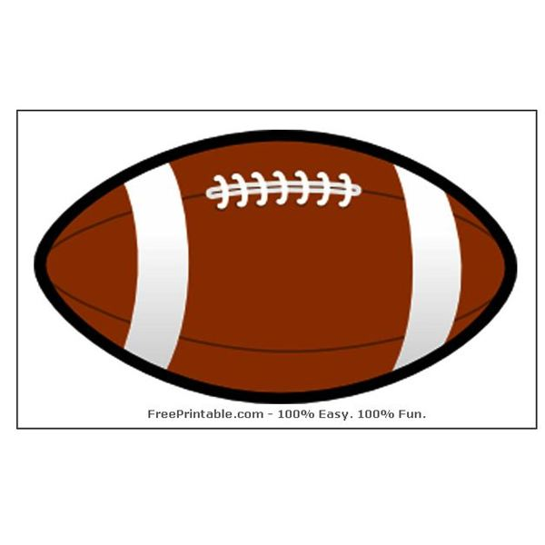 Monster image for printable footballs