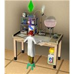 The Sims 3 chemistry set kid practicing