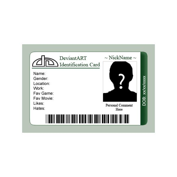 Printable Fake Ids Pertaminico - Card template free: blank id card template