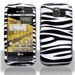LG Optimus S White Zebra Carrying Case