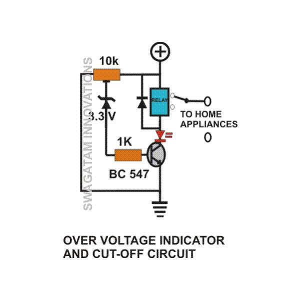 how to build simple mains voltage protection circuits low voltage over voltage detector and cut off circuit diagram image