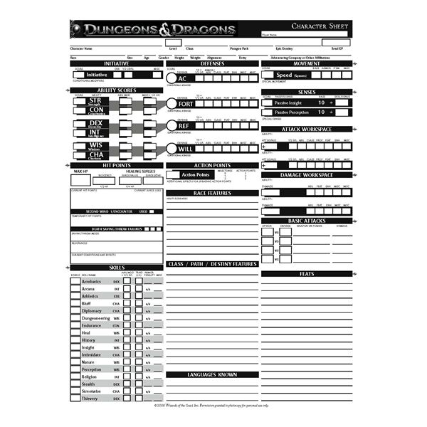 Légend image pertaining to d&d character sheet printable