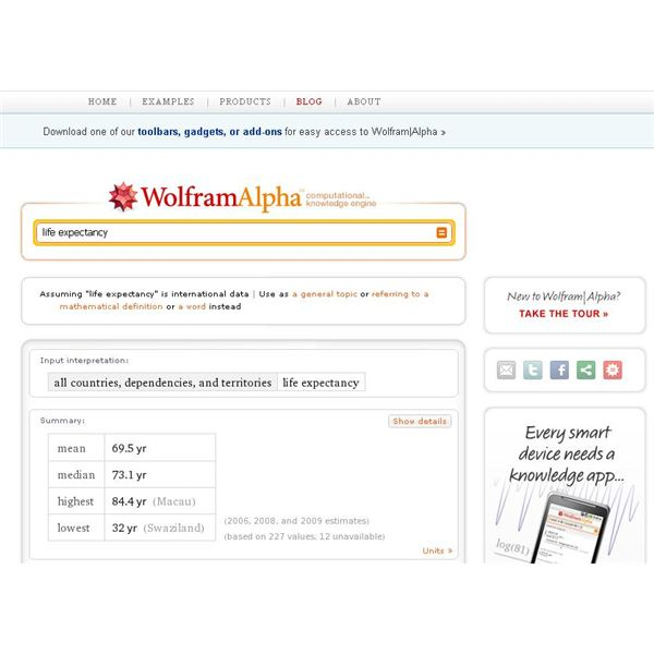 Wolfram|Alpha for Mobile