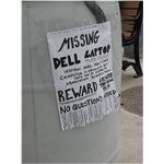 Missing Dell Laptop - from Flickr user pcorreia