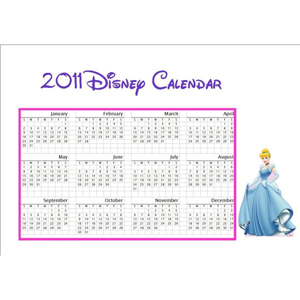Free Kids Printable Disney Calendar Download And Learn How To