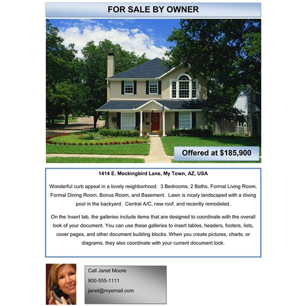 AdvFlyer Sample FSBO Open This Template ...  Advertising Flyers Templates Free