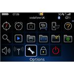 Options in Blackberry Menu