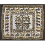 718px-'Chakla' (square of beadwork), Gujarat (western India) early 20th century, Honolulu Academy of Arts rug-2