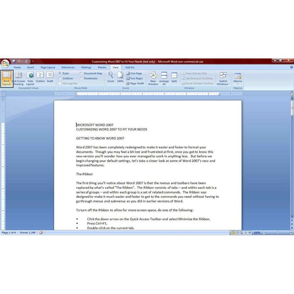 how to view your word 2007 documents for better functionality With view documents printed