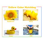 Yellow preschool printable color flash card
