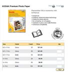 Kodak Premium Photo Paper prices