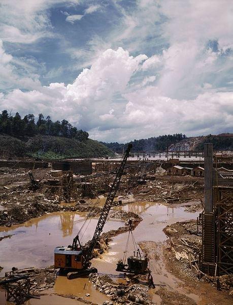 WPA Dam under Construction