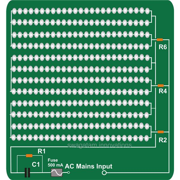 31d7396972c0be37efef2b046119203ea47bc7b4_large how to make your own highly efficient led light fixture Fluorescent Light Wiring Diagram Explanation at crackthecode.co