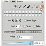 Select Edges on Line Tab