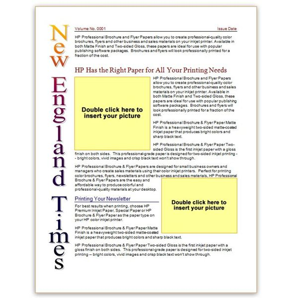 free microsoft word newsletter template