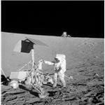 Astronaut at Surveyor