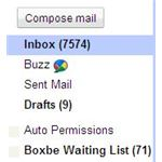 Screenshot Gmail Boxbe Folder