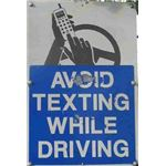 avoid texting sign