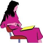 businesswoman sitting