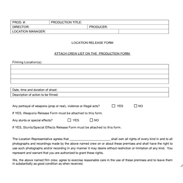 Student Film Production Forms: What Types Of Forms And Contracts