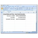 Sample Excel Serial Numbers