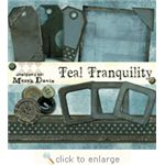 Teal Tranquility by Computer Scrapbook