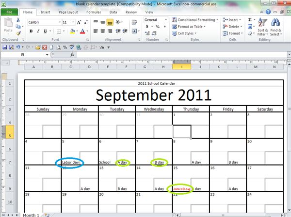 Tutorial on how to make a free printable blank calendar fun with customization pronofoot35fo Choice Image
