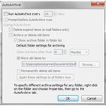 Activating the AutoArchive Feature in Outlook