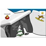 surfer-in-sled by Chrisdog93 at Club Penguin CP with permission