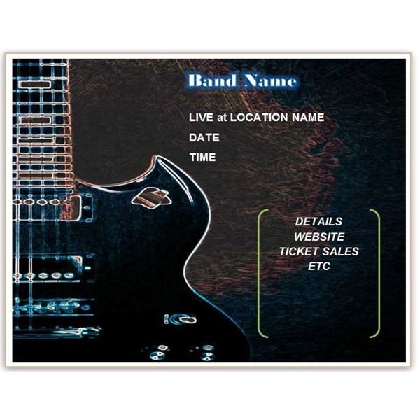 Download Free Band Flyer Templates for MS Word or Publisher – Make a Free Printable Flyer