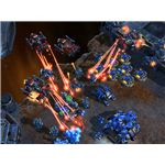 Starcraft 2 Battlecruisers Attacking
