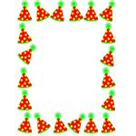 Party Hats Birthday Border