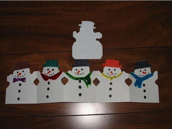 Paper Doll Snowmen