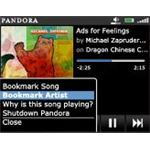 Pandora for BlackBerry song view