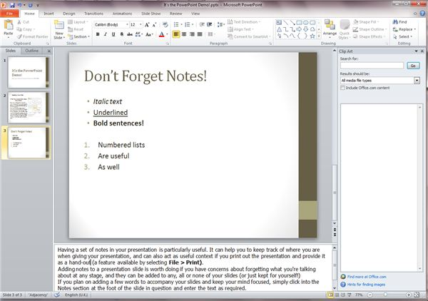 Don't Forget Notes!