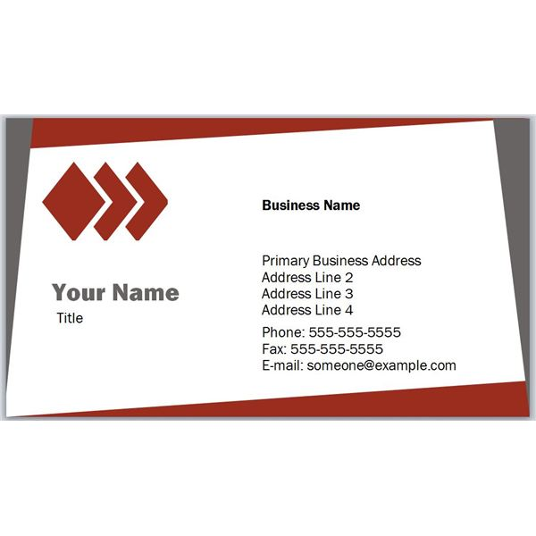 business card sample template
