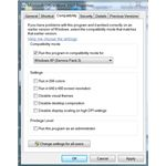 Figure 4 - Windows 7 Compatibility Mode