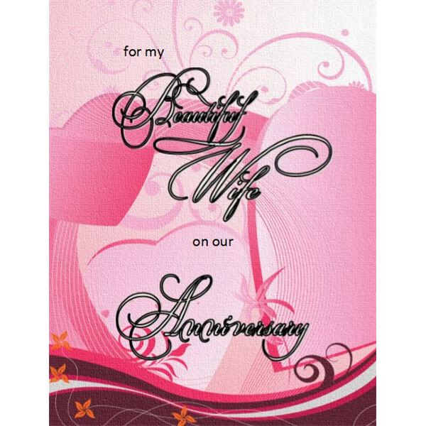 Wonderful Anniversary Card For Her  Print Free Anniversary Cards