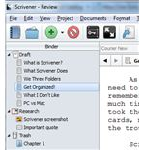 Scrivener organization