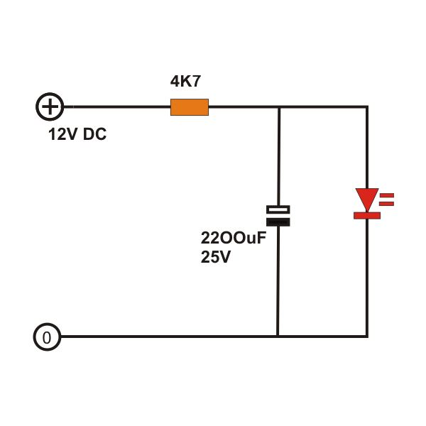 how to build ac dc light fader circuits ordinary led light fader circuit diagram image