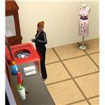 The Sims 3 Butler doing Laundry