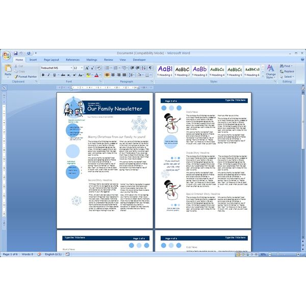 Ms Word Newsletter Templates
