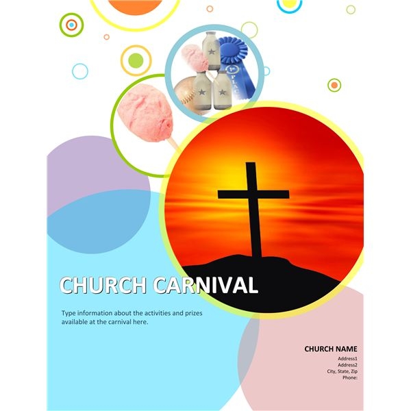 3 Church Carnival Flyer Templates using Microsoft Office